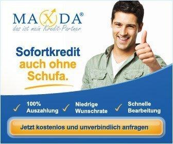 Kredite und Darlehen von Maxda - mit & ohne Schufa